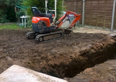 Ground-works in Worcester by MB Digger Hire