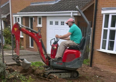 Mini Digger for minor landscaping projects.